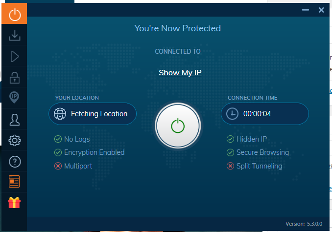Ivacy VPN Connected