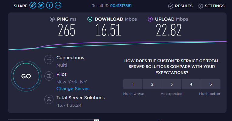 Ivacy VPN Speed United States Location