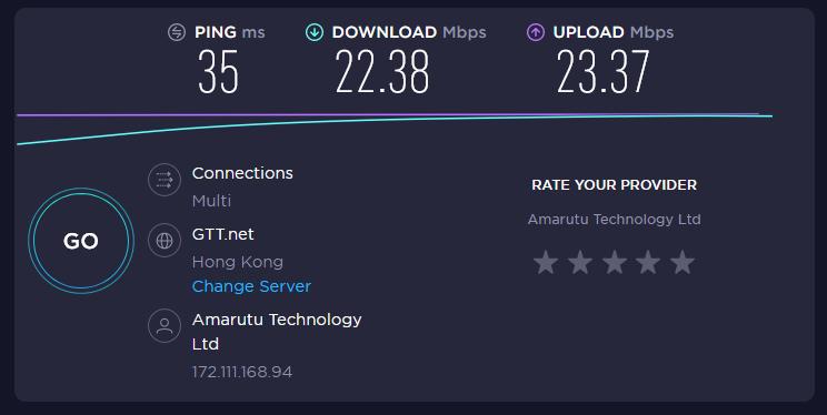 Ivacy VPN Speed HongKong Location